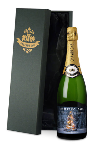 Personalised Luxury Christmas Champagne