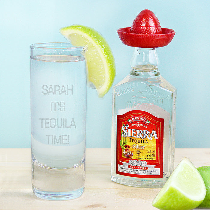 Personalised Tequila Gift Set - Shot & Miniature