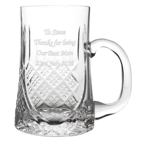 Personalised Luxury Crystal Pint Tankard