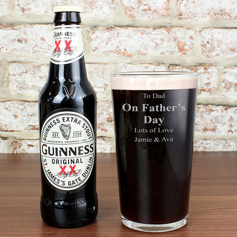 Personalised Guinness & Glass Gift Set