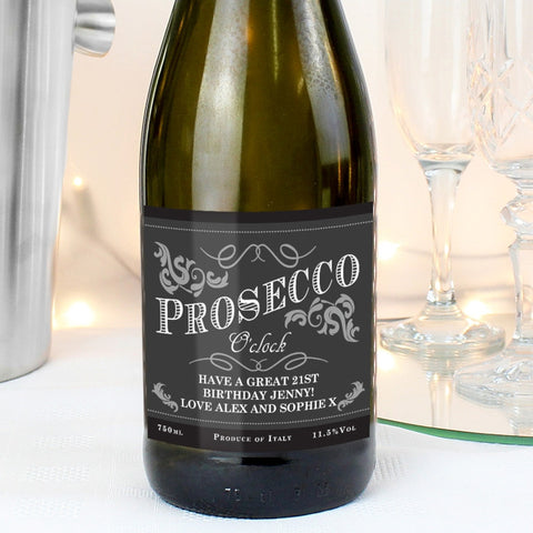 Personalised 'It's Prosecco O'Clock' Bottle of Prosecco