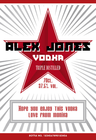 Personalised Red Star Vodka