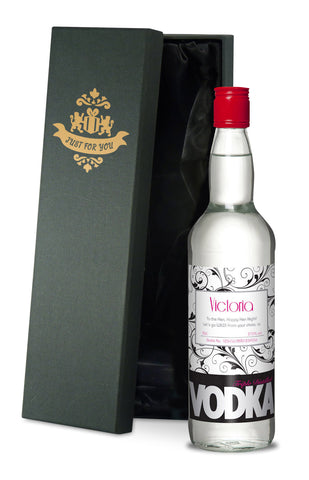 Personalised Vodka - Black & Pink