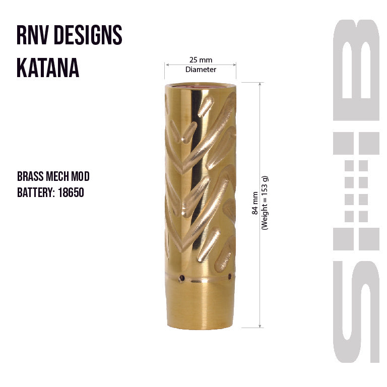 Brass Katana from RNV Designs measurements
