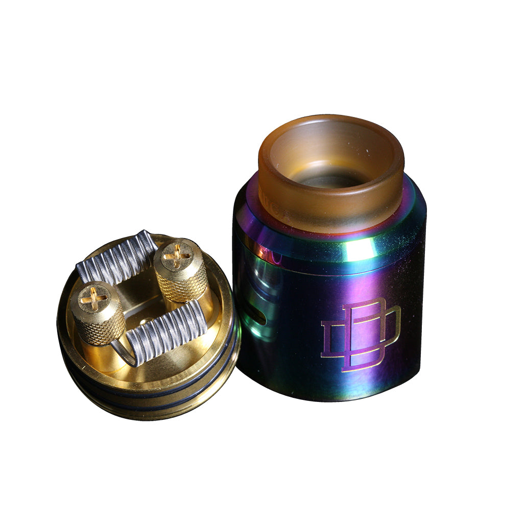 Druga 24mm Vape RDA with SaddlehorseBlues alien vape coils