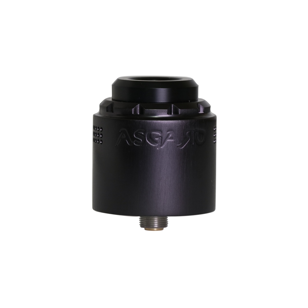 The Asgard 30 mm RDA in black from Vaperz Cloud