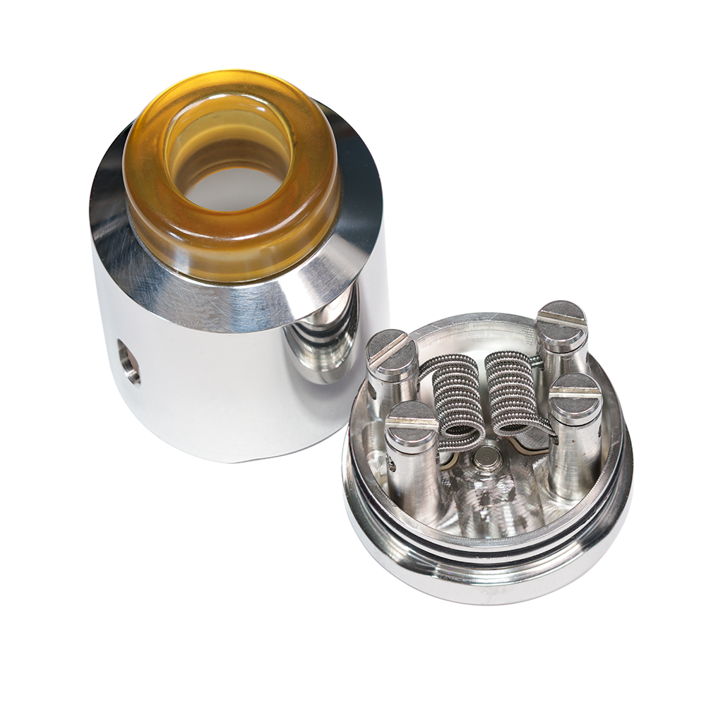 Project Iona MK I stainless steel RDA with SaddlehorseBlues coils