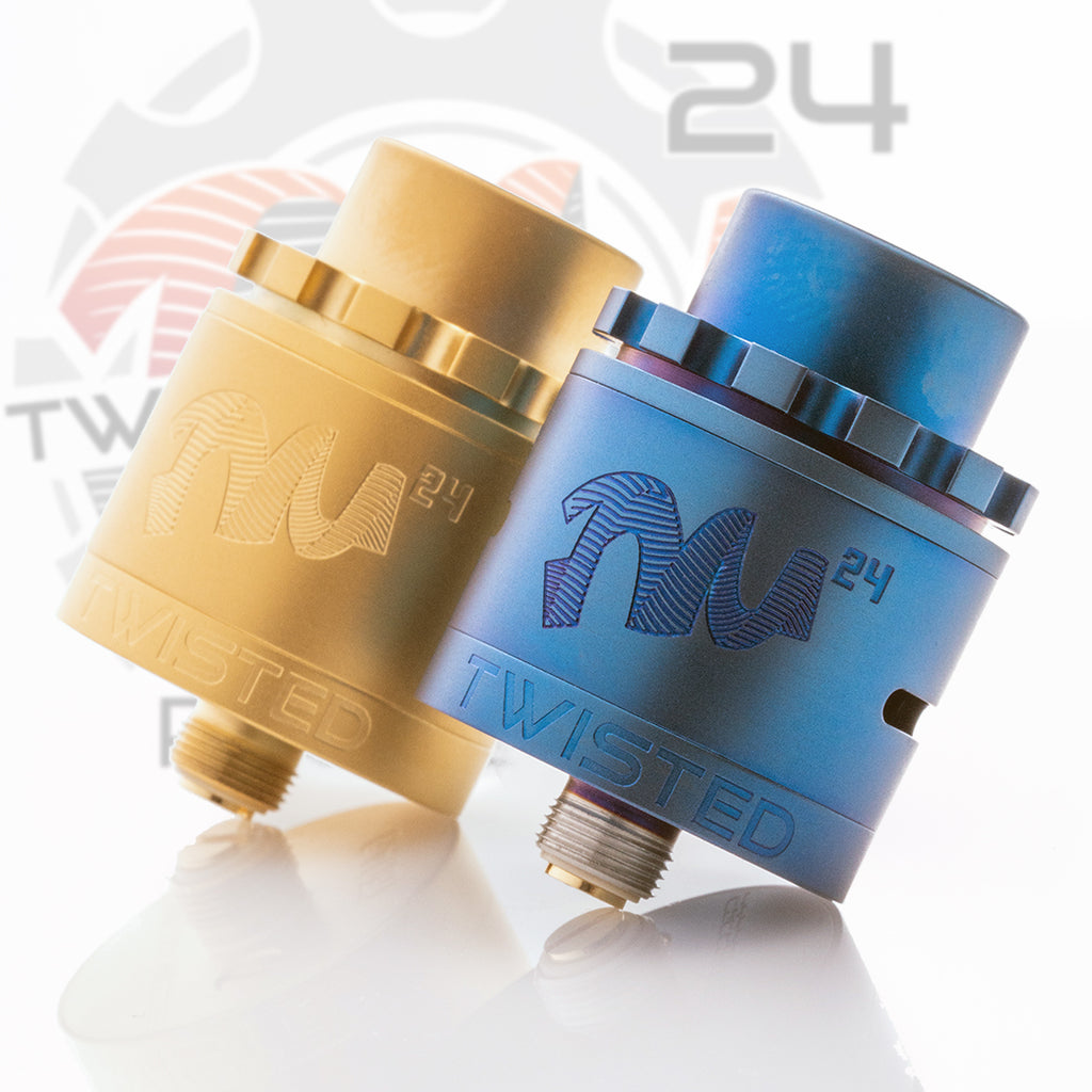 Twisted Messes TM24 Pro-Series matte blue and matte gold