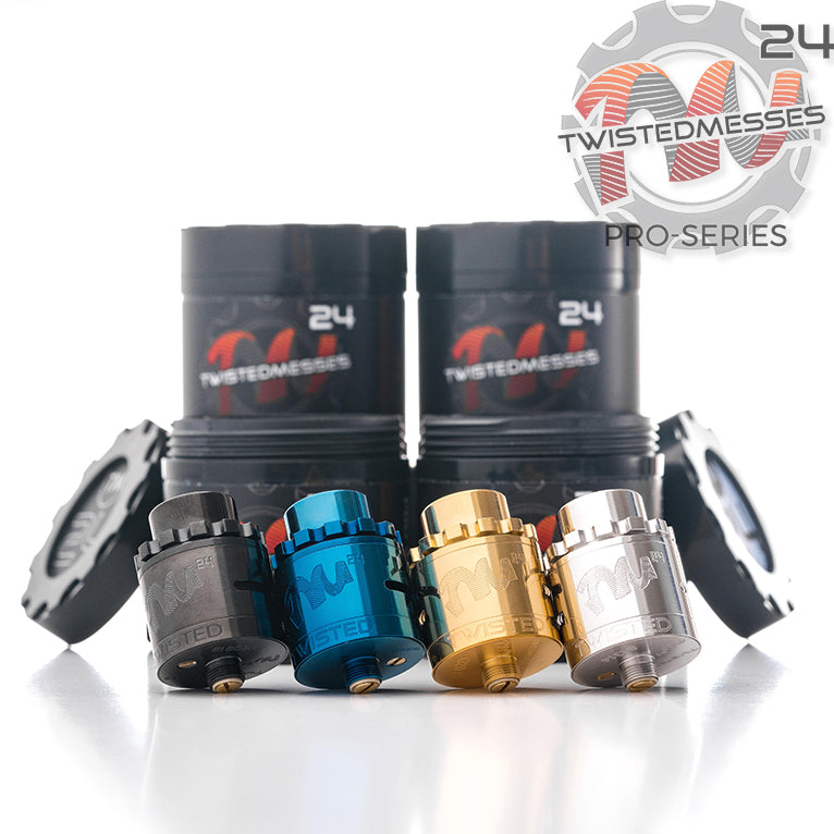Twisted Messes TM24 Pro-Series vape RDA colors