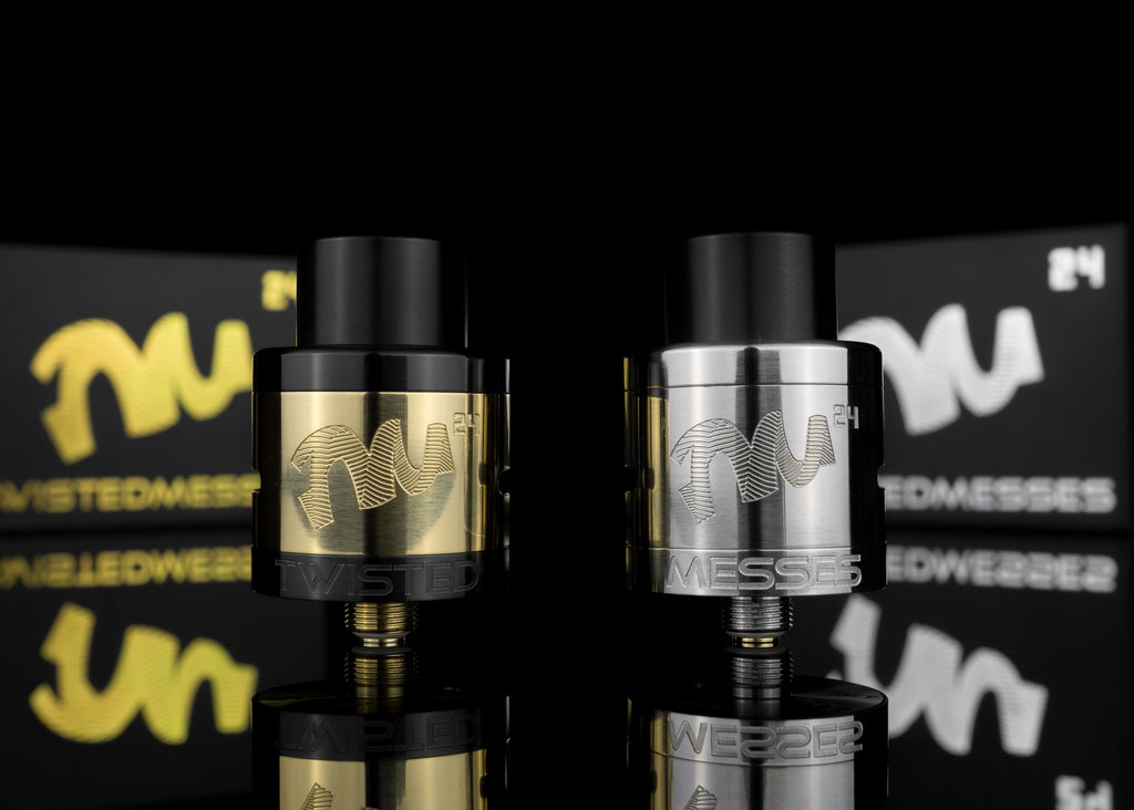 Twisted Messes TM24 vape RDA gold and stainless