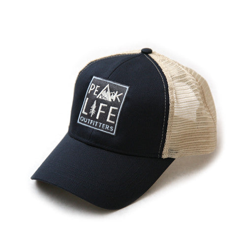 Peak Life snapback trucker hat navy pacific blue
