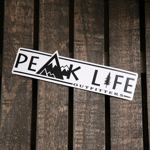 Peak Life logo sticker die cut decal weather proof