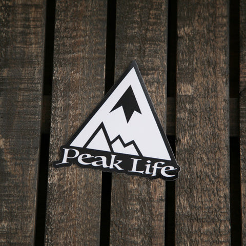 Peak Life Mountain Sticker