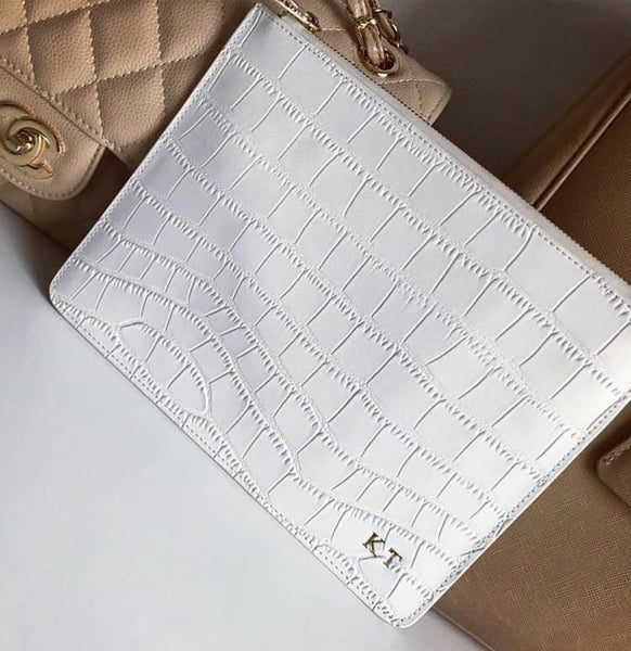 Summer White Croc Bag