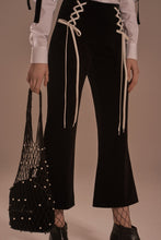 Velvet high waist cropped pants