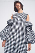 Checkered robe-dress