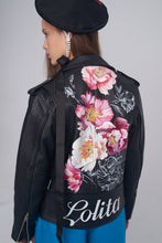 Hand embroidered leather jacket