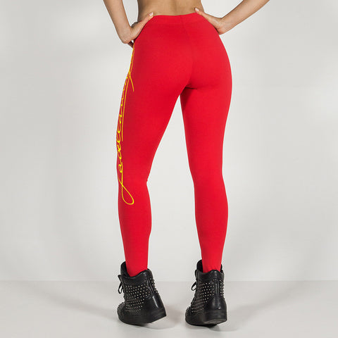 New 2016 Red Women's Fashion Slim Workout Leggings