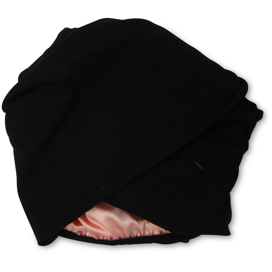 Black T-shirt Turban Wrap
