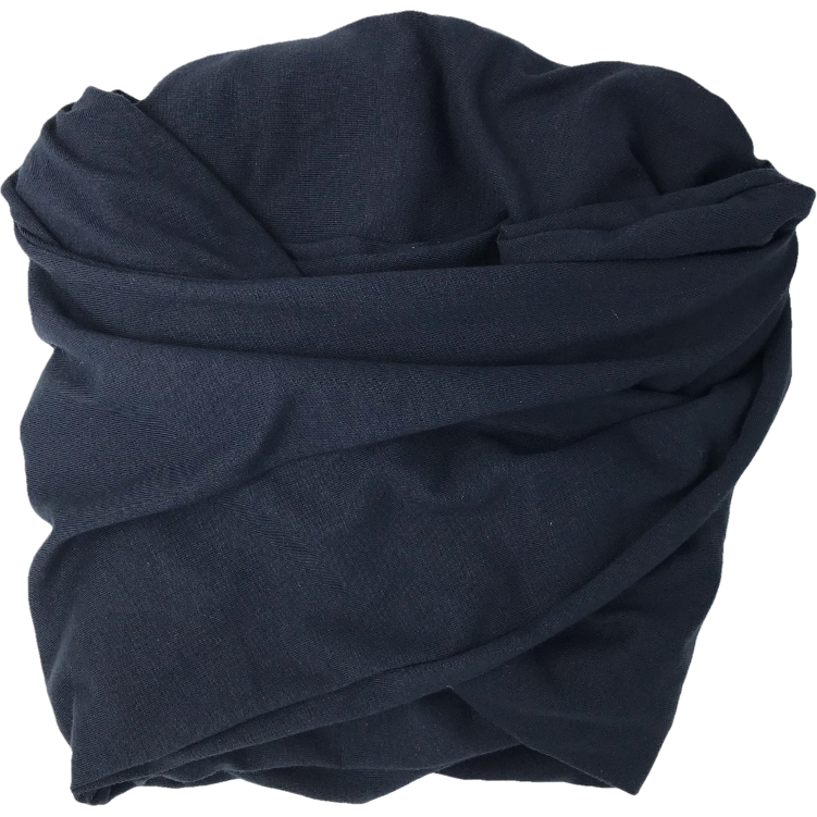 Navy T-shirt Turban Wrap