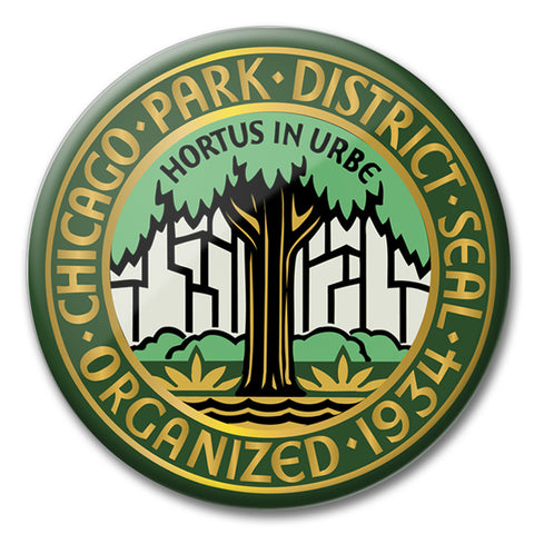 Retro Logo Round Magnet Chicago Park District