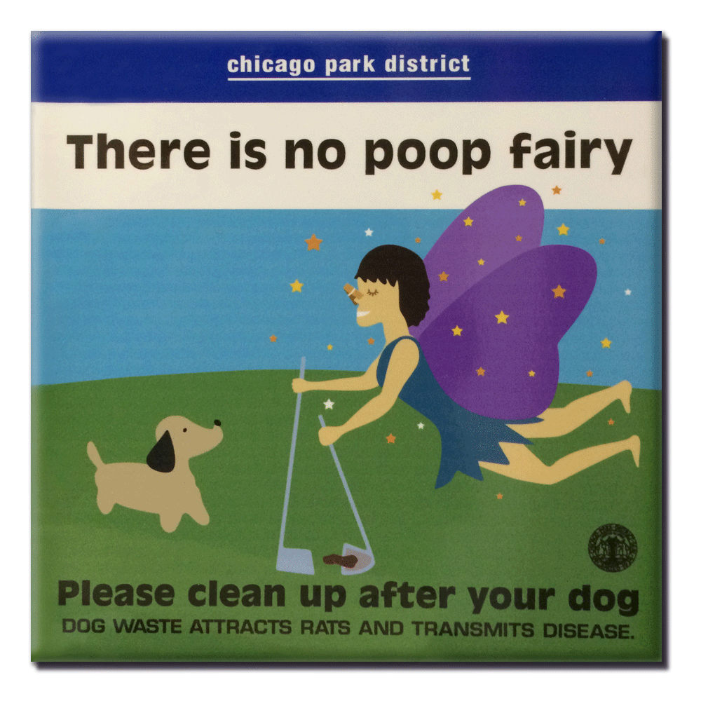 Poop Fairy Magnet Chicagoparkstore