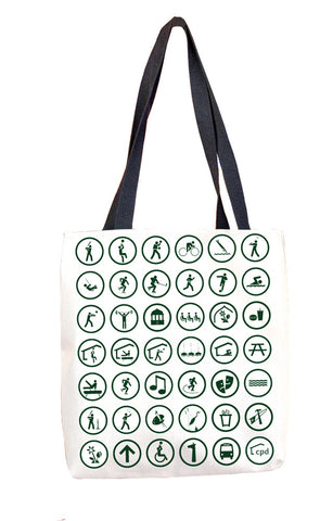 Pictogram Tote Bag Chicago Park District
