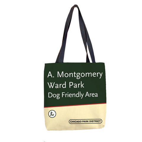 A. Montgomery Ward Park Tote Bag Chicago Park District