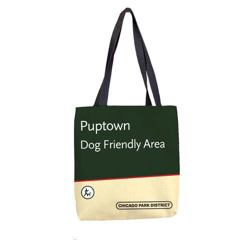 Puptown Tote Bag Chicago Park District