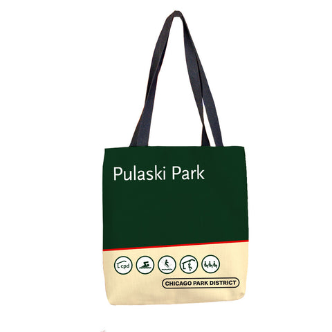 Pulaski (Casimer) Park Tote Bag Chicago Park District