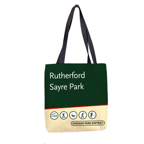 Rutherford Sayre Park Tote Bag Chicago Park District