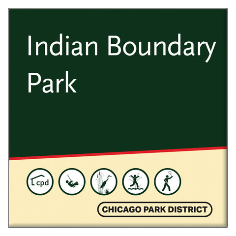 Indian Boundary Park Square Magnet Chicago Park District