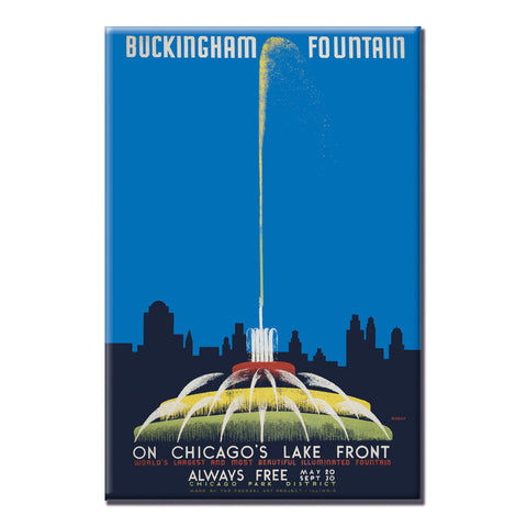 Buckingham Fountain Magnet Chicago Park District