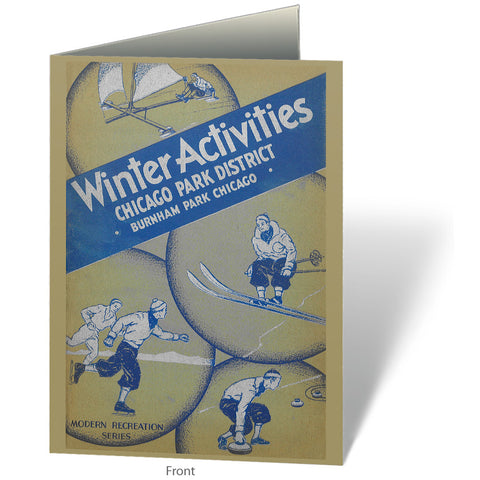 Winter Activities Notecard Chicago Park District