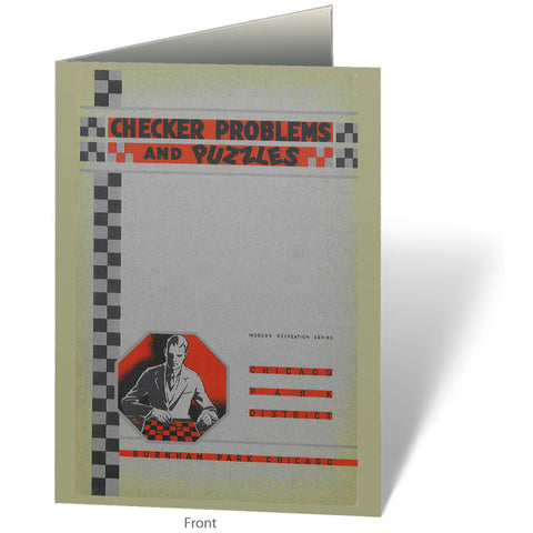 Checker Problems & Puzzles Notecard Chicago Park District