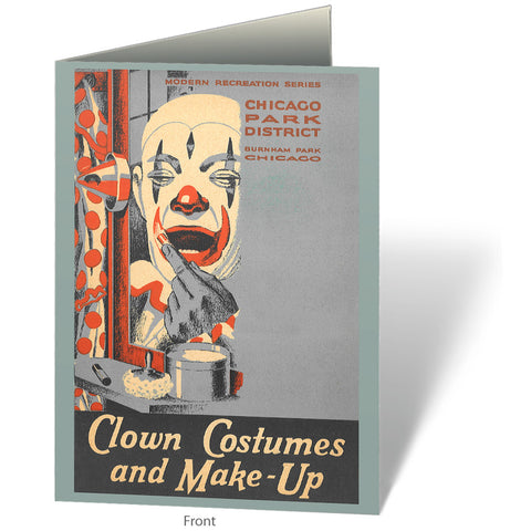Clown Costumes Notecard Chicago Park District