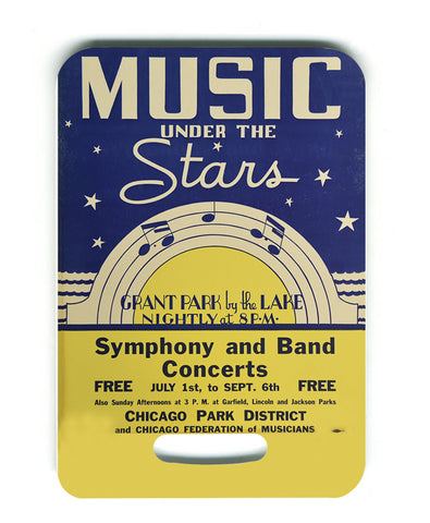 Music Under the Stars Luggage Tag Chicago Park District