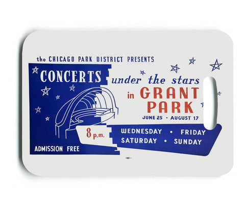 Under the Stars Luggage Tag Chicago Park District