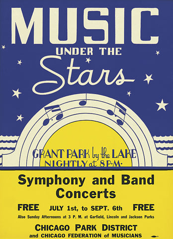 Music Under the Stars Print Chicago Park District