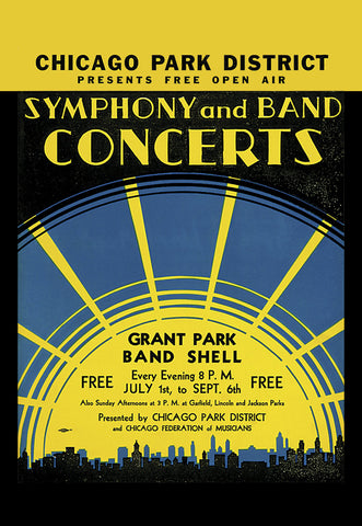 Symphony ~ Band Print Chicago Park District