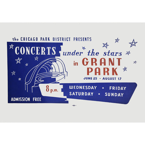 Under the Stars Print Chicago Park District