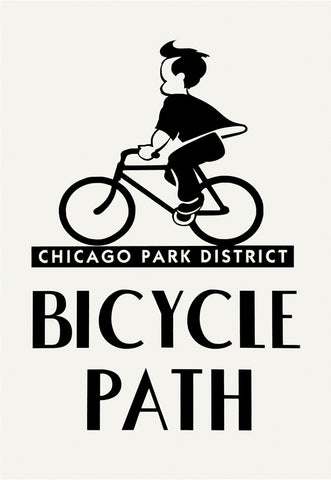 Bicycle Path Print Chicago Park District