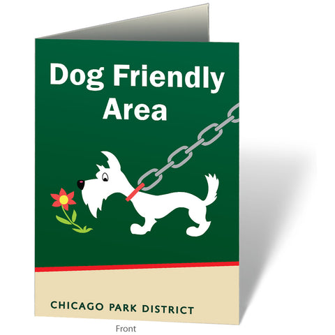 Dog Friendly Area Notecard Chicago Park District