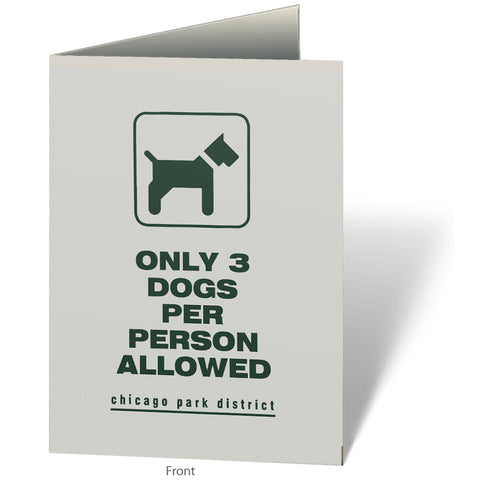 3 Dogs Per Person Notecard Chicago Park District