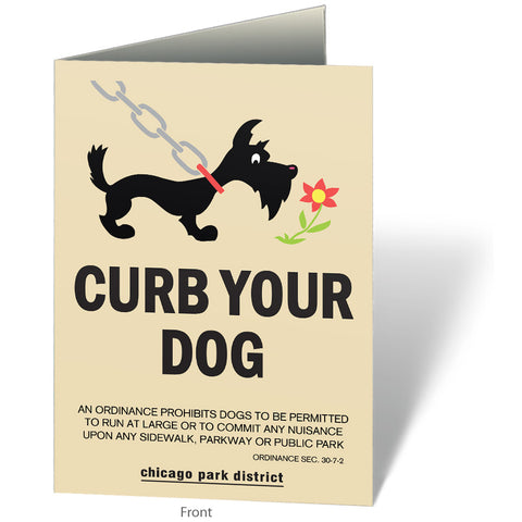 Curb Your Dog Notecard Chicago Park District