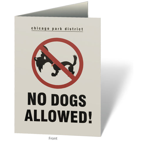 No Dogs Allowed Notecard Chicago Park District