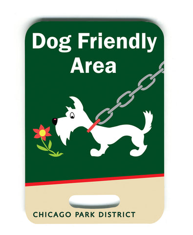 Dog Friendly Area Luggage Tag Chicago Park District