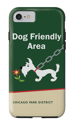 Dog Friendly Area iPhone Case Chicago Park District