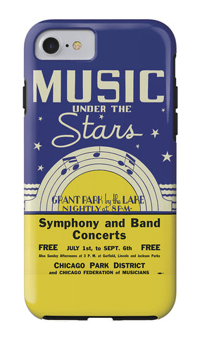 Music Under the Stars iPhone Case Chicago Park District