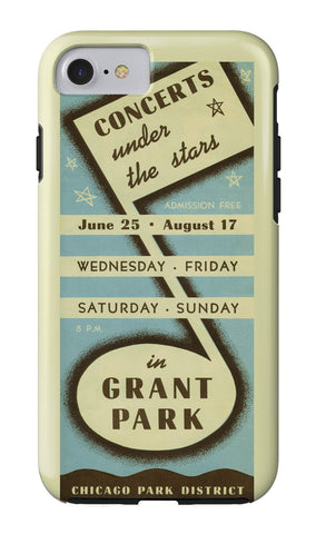 Concerts Under the Stars iPhone Case Chicago Park District